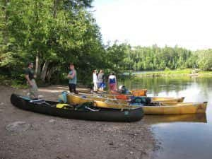 Boundary waters canoe outfitting