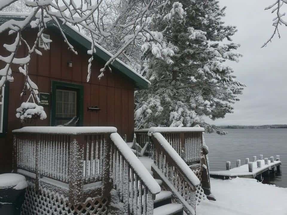 Boundary Waters Cabin in Winter