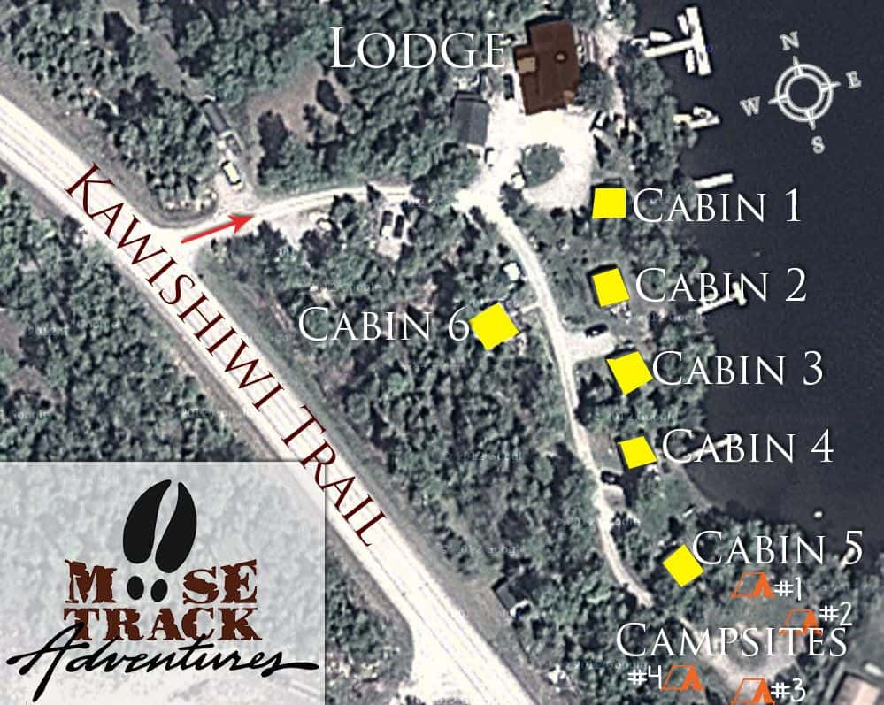 Resort Cabins Map